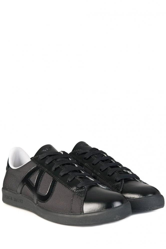 Armani Jeans Mesh Runner Sneakers Black
