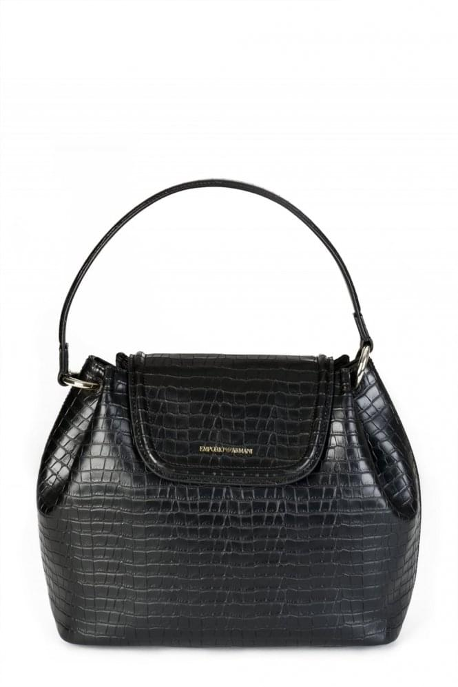 ARMANI Jeans Mock Crock Shoulder Bag