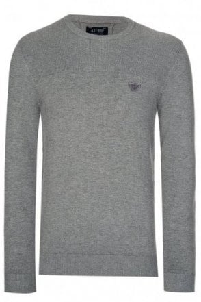 Armani Jeans Ribbed Panel Knitted Jumper
