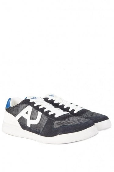 Armani Jeans Side Logo Sneakers Navy