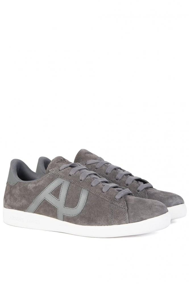 ARMANI Jeans Side Logo Sneakers Suede