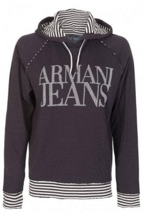 Armani Jeans Slim-fit Hooded Top