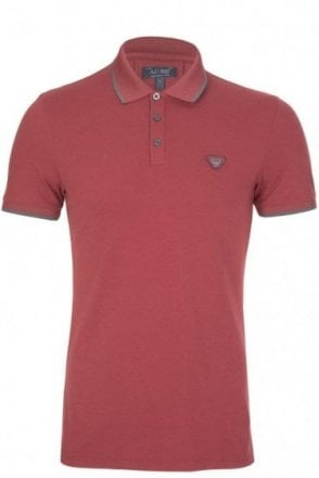 Armani Jeans Sports Luxe Polo Burgundy