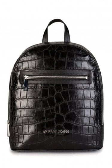 Armani Jeans Womens Backpack Black