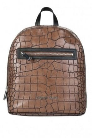 Armani Jeans Womens Croc Backpack Taupe