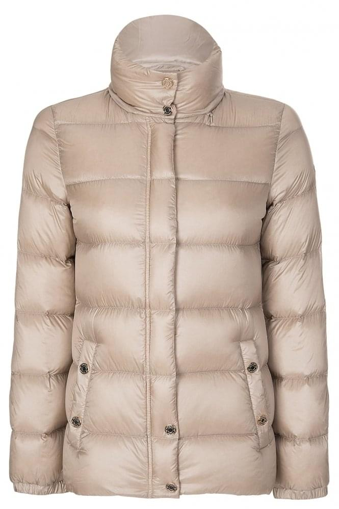 Armani Jeans Womens Down Puffer Coat Champagne