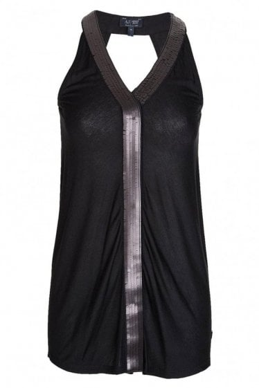 Armani Jeans Women's Embellished Top Black