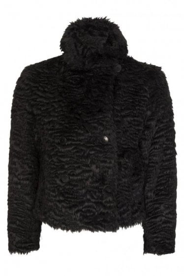 Armani Jeans Women's Faux Fur Jacket Black