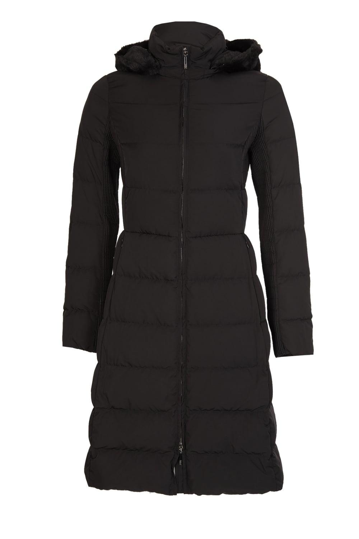34f15f0f7 Jeans Women's Hooded Long Down Coat Black
