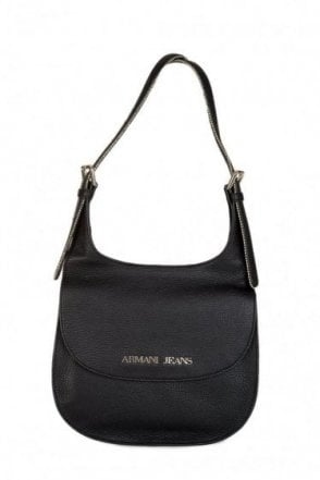 Armani Jeans Women's Leather Shoulder Bag Black