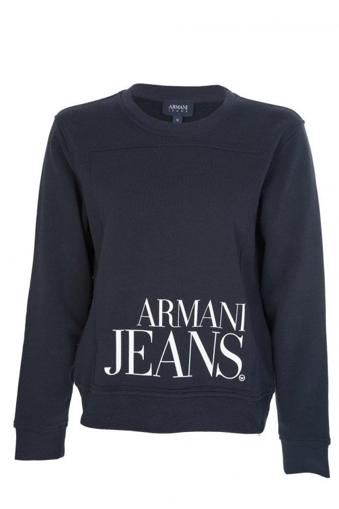 Armani Jeans Womens Logo Sweatshirt