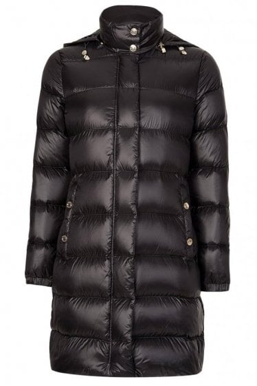 Armani Jeans Womens Long Down Puffer Coat