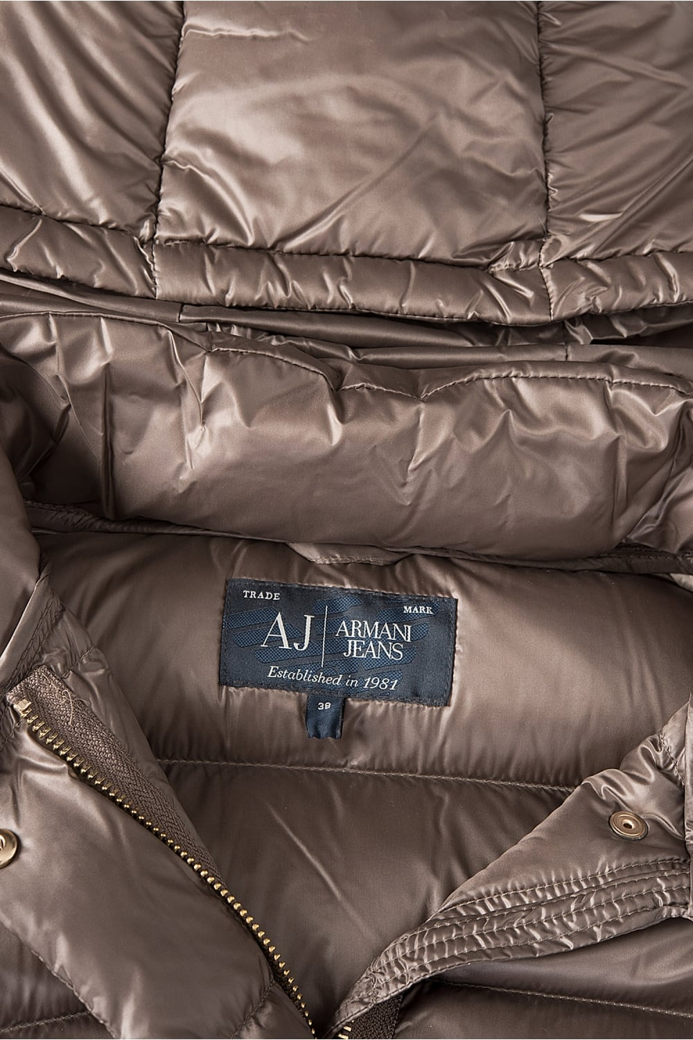 218163a73 Jeans Womens Long Down Puffer Coat Taupe