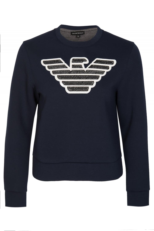 f8965823a2 Armani Jeans Womens Neoprene Sweatshirt Navy