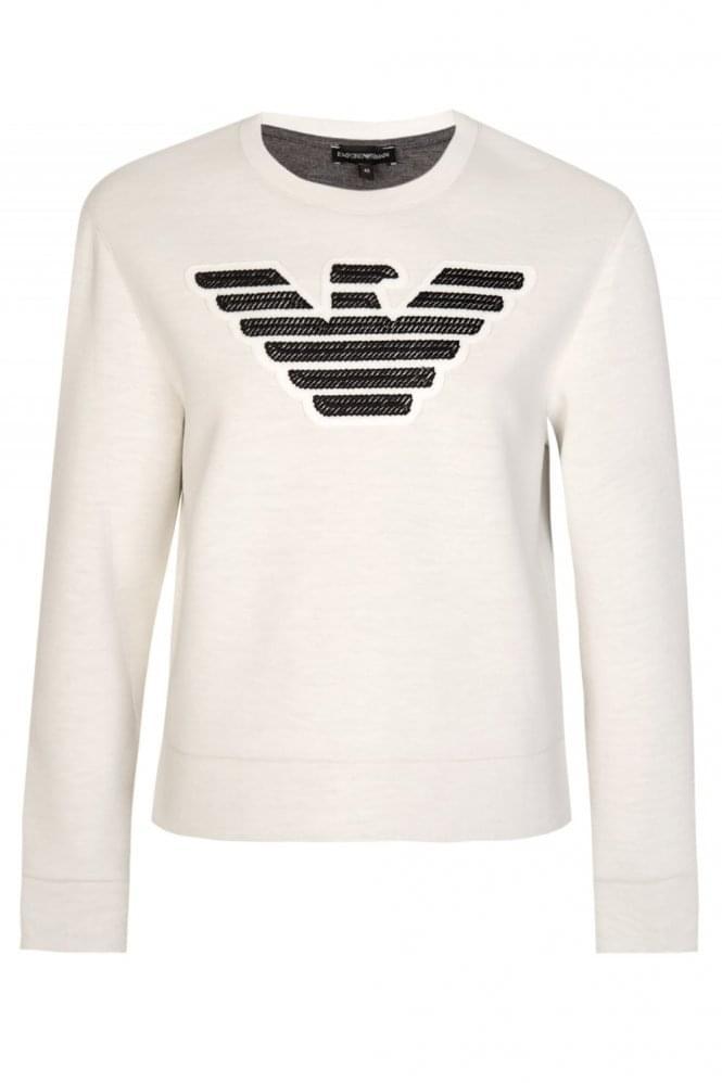 Armani Jeans Womens Neoprene Sweatshirt White