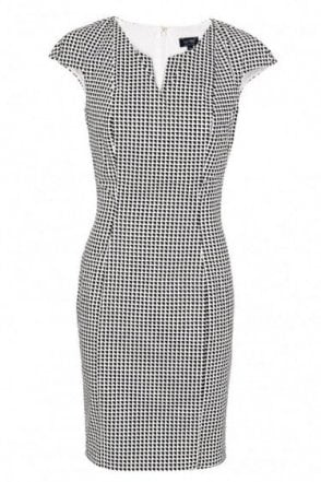 Armani Jeans Women's Optical Print Fitted Shift Dress