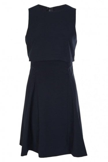 Armani Jeans Womens Overlay Dress Black