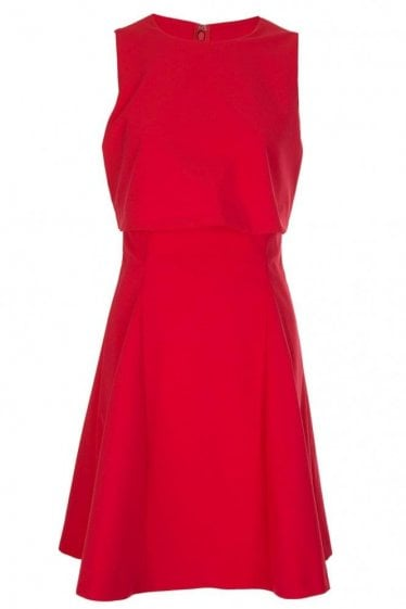 Armani Jeans Womens Overlay Dress Red