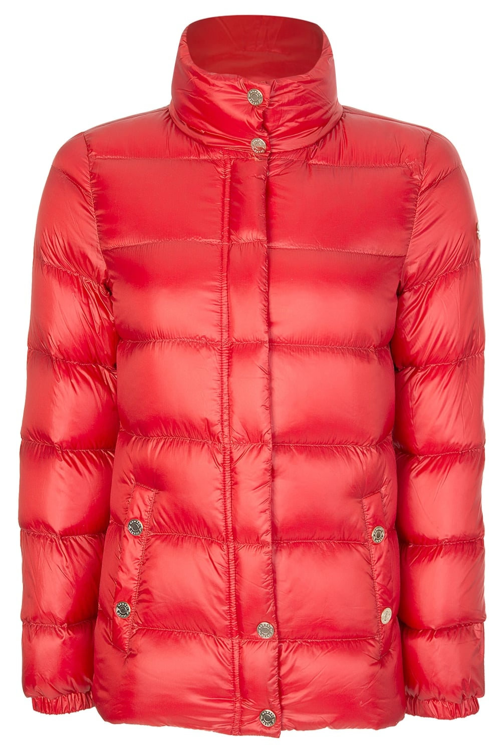 Armani Jeans Womens Red Puffer Jacket