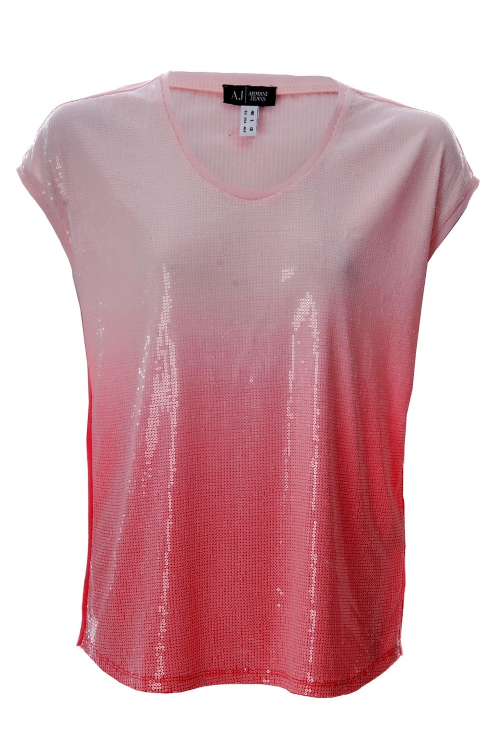 74f233ab Armani Jeans Women's Sequin T-Shirt Pink