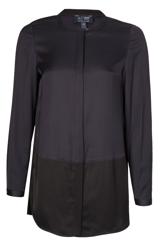 62a74a6d8f3 Armani Jeans Womens Silk Tonal Shirt