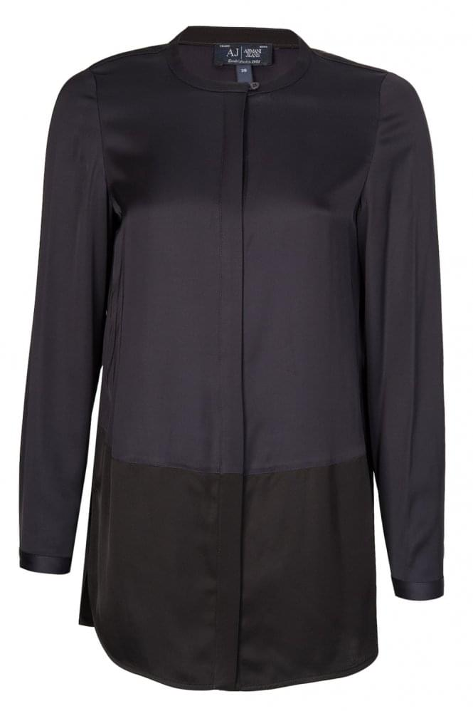 Armani Jeans Womens Silk Tonal Shirt