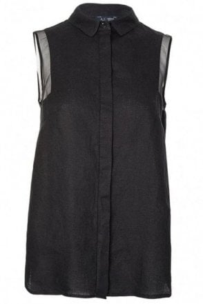Armani Jeans Womens Sleeveless Blouse