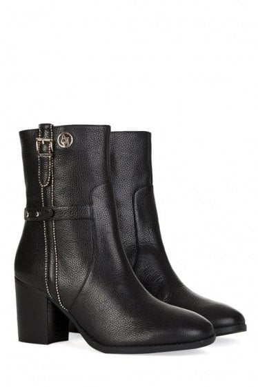 Armani Jeans Womens Stud Detail Ankle Boots