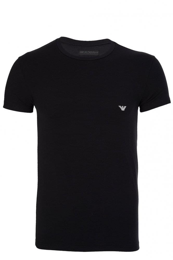 ARMANI Logo Twin Pack T-Shirt Black