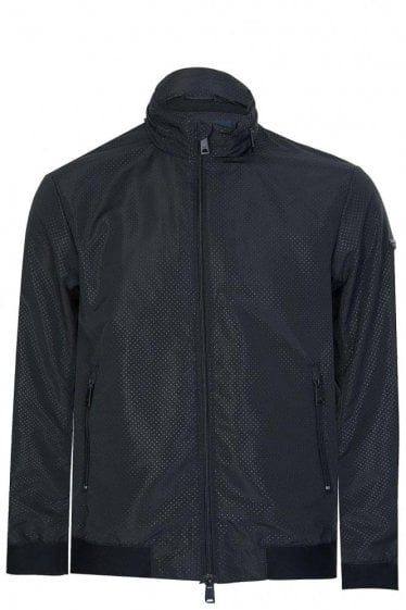 Armani Perforated Jacket Black