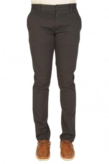 Armani Slant Pockets Tapered Chinos Navy