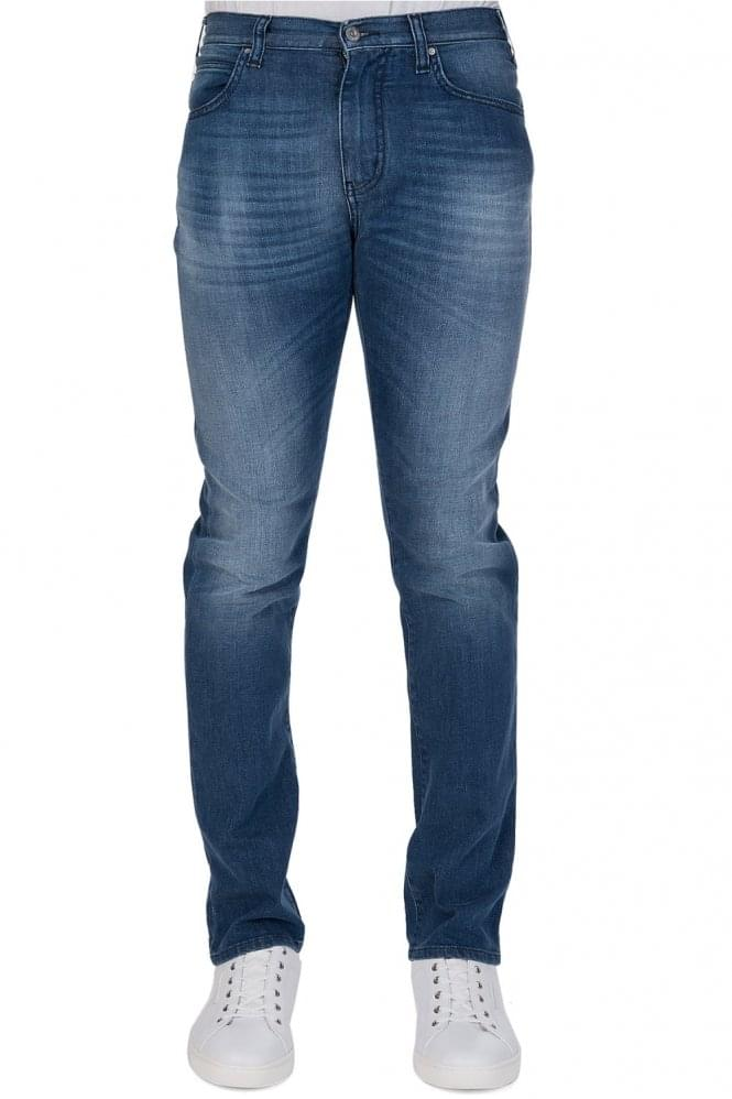 ARMANI Tapered Slim Fit Jeans Blue