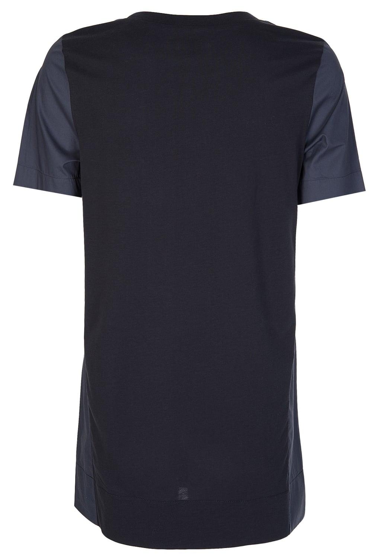 Armani Women s Contrasting Pocket + Panels T-Shirt Navy 029eb27d1