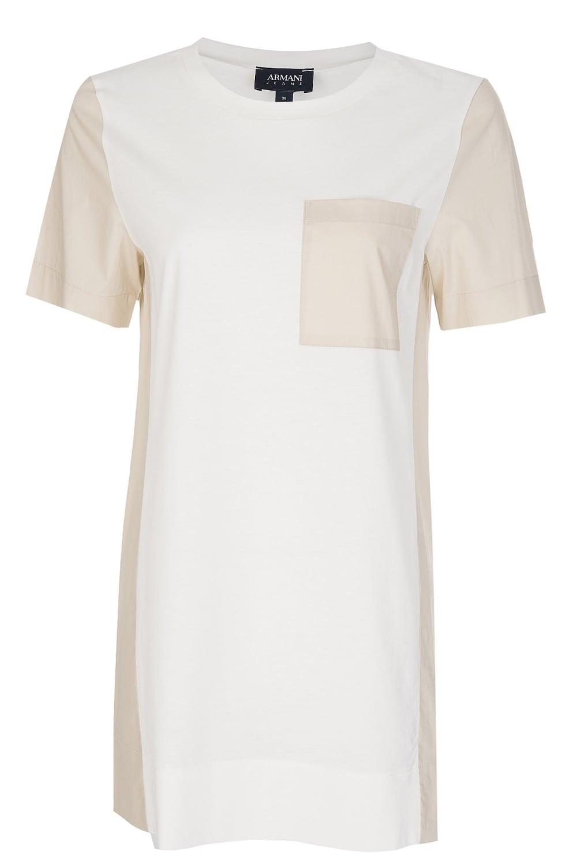 1cb6873748 Women's Contrasting Pocket + Panels T-Shirt White