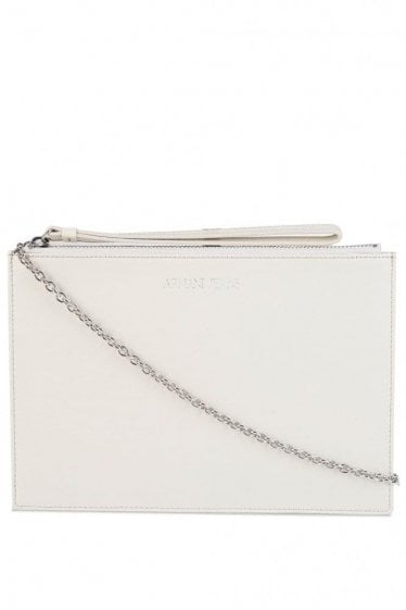 Armani Women's Flat Clutch Grey