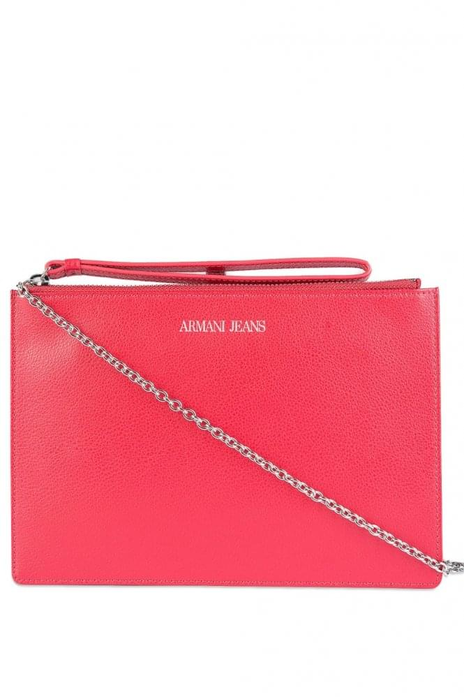 ARMANI Women's Flat Clutch Red