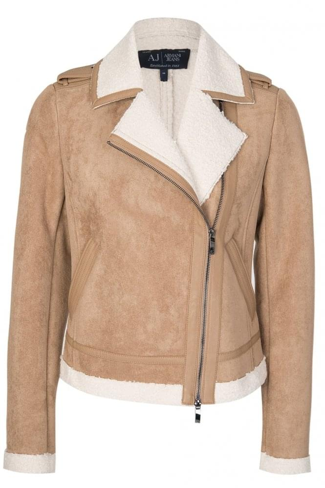 ARMANI Womens Jeans Sherling Jacket