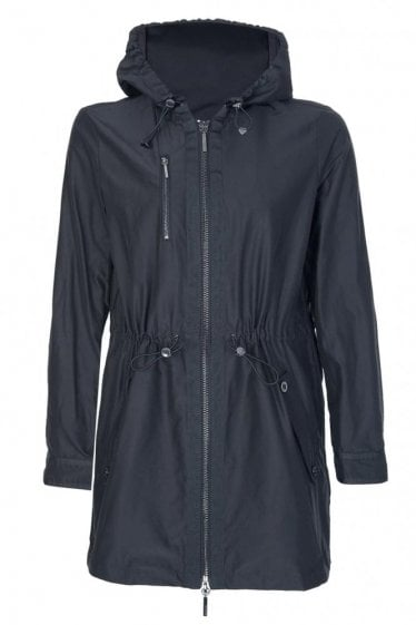 Armani Women's Nylon Hooded Coat Black
