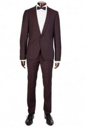 HUGO by Hugo Boss Avos/Heibo3 Wool Suit Purple