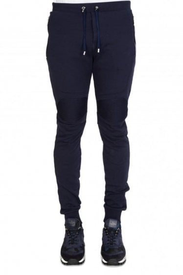 Balmain Combination Biker Joggers Navy