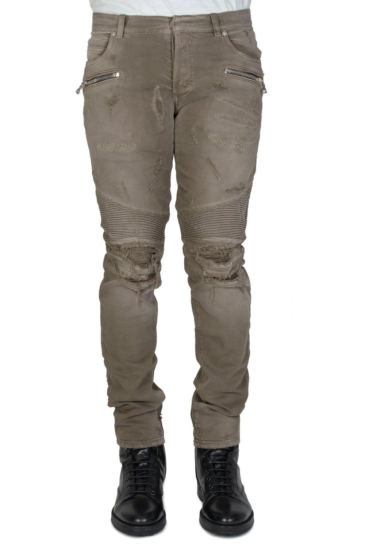 35a024ca BALMAIN Balmain Distressed Biker Jeans - Clothing from Circle Fashion UK