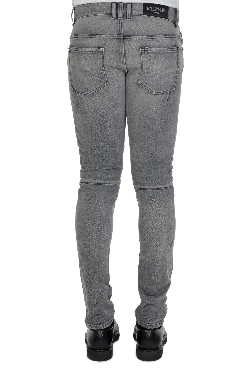 ff3fe4e06de BALMAIN Balmain Distressed Biker Skinny Jeans - Clothing from Circle ...