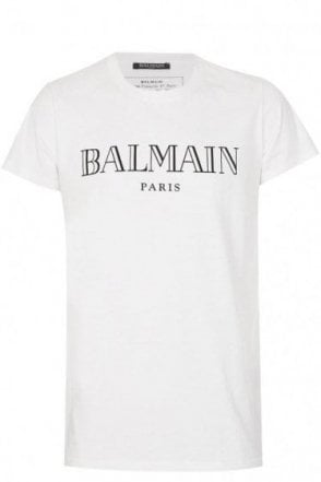 Balmain Paris Chest Logo T-Shirt White