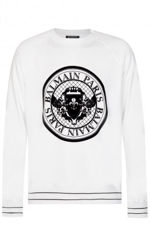 Balmain Paris Coin Logo Sweatshirt