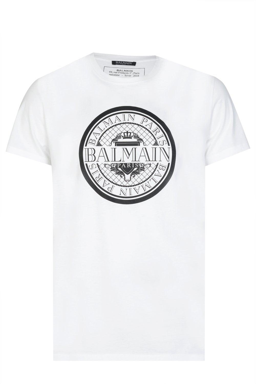 5d3668ac1 BALMAIN Balmain Paris Coin Logo T-shirt - Clothing from Circle ...