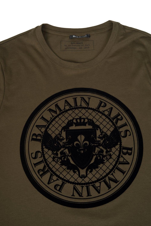 34e6467a BALMAIN Balmain Paris Coin Logo T-shirt - Uncategorised from Circle ...