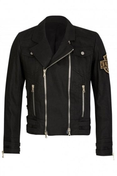 Balmain Paris Denim Biker Jacket