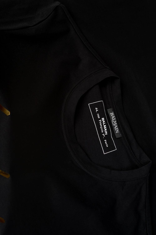 c9f07a3aa BALMAIN Balmain Paris Metallic Logo T-shirt - Clothing from Circle ...