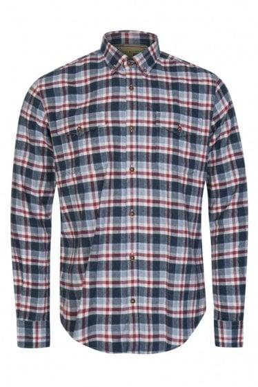 Barbour Beach Grove Check Shirt Navy