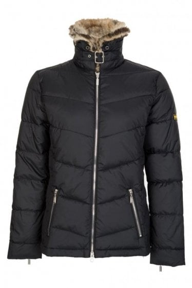 Barbour Garvie Quilt Jacket Black